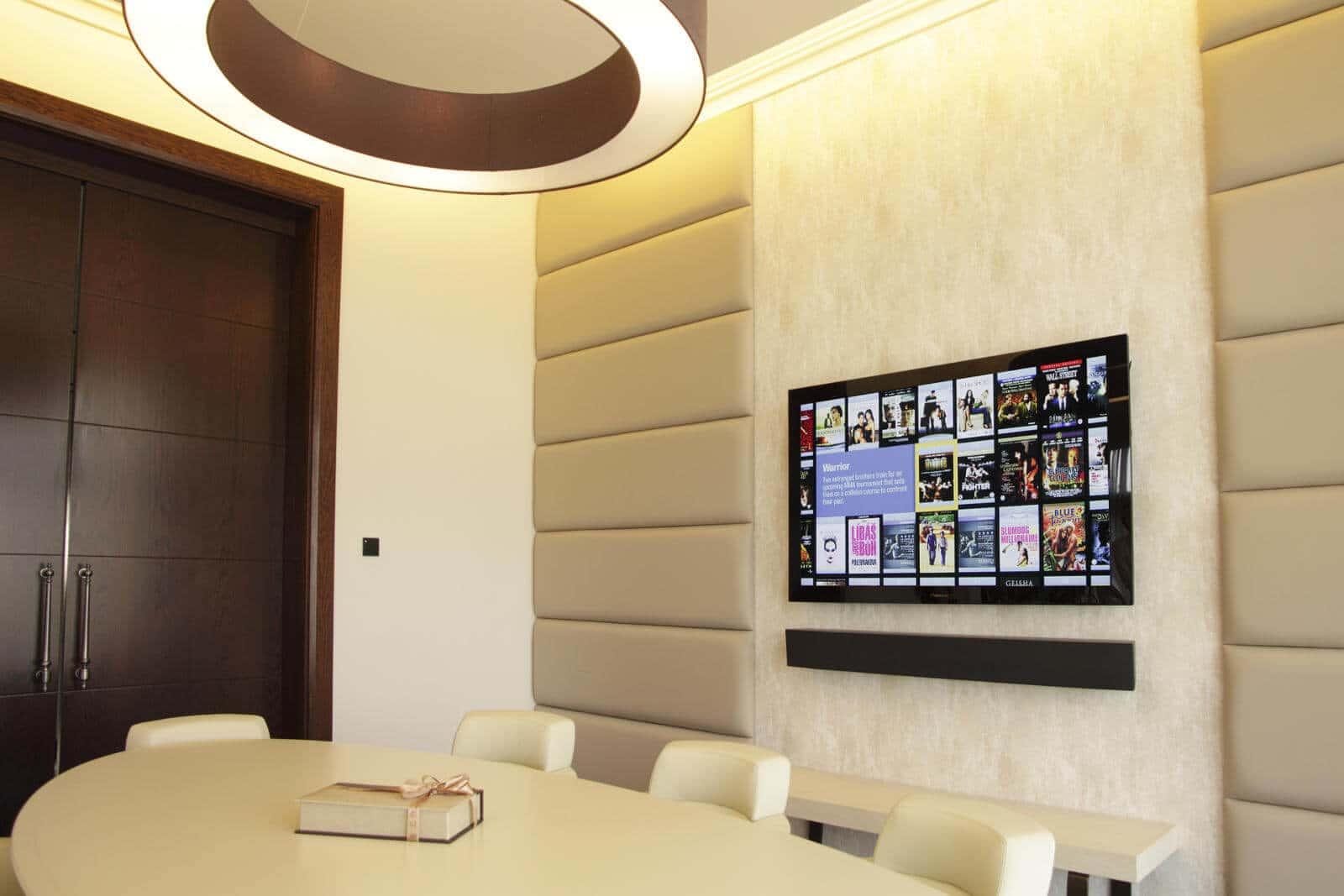 Boardroom showing Kaleidescape Movie Server