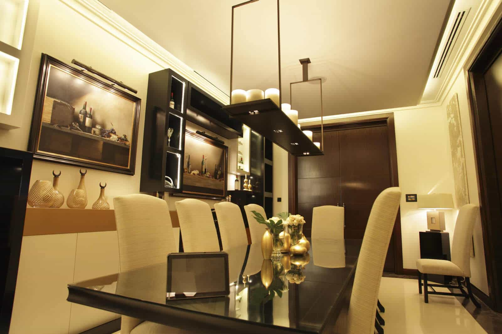 Crestron Lighting Control in Dining Room