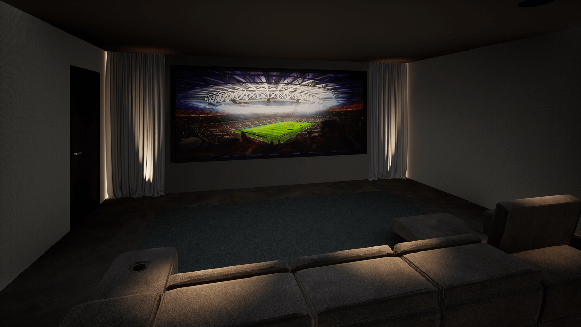 District One Cinema Room Showing FIFA