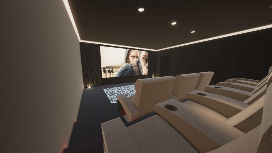 Home Cinema Room - Al Barari, Dubai