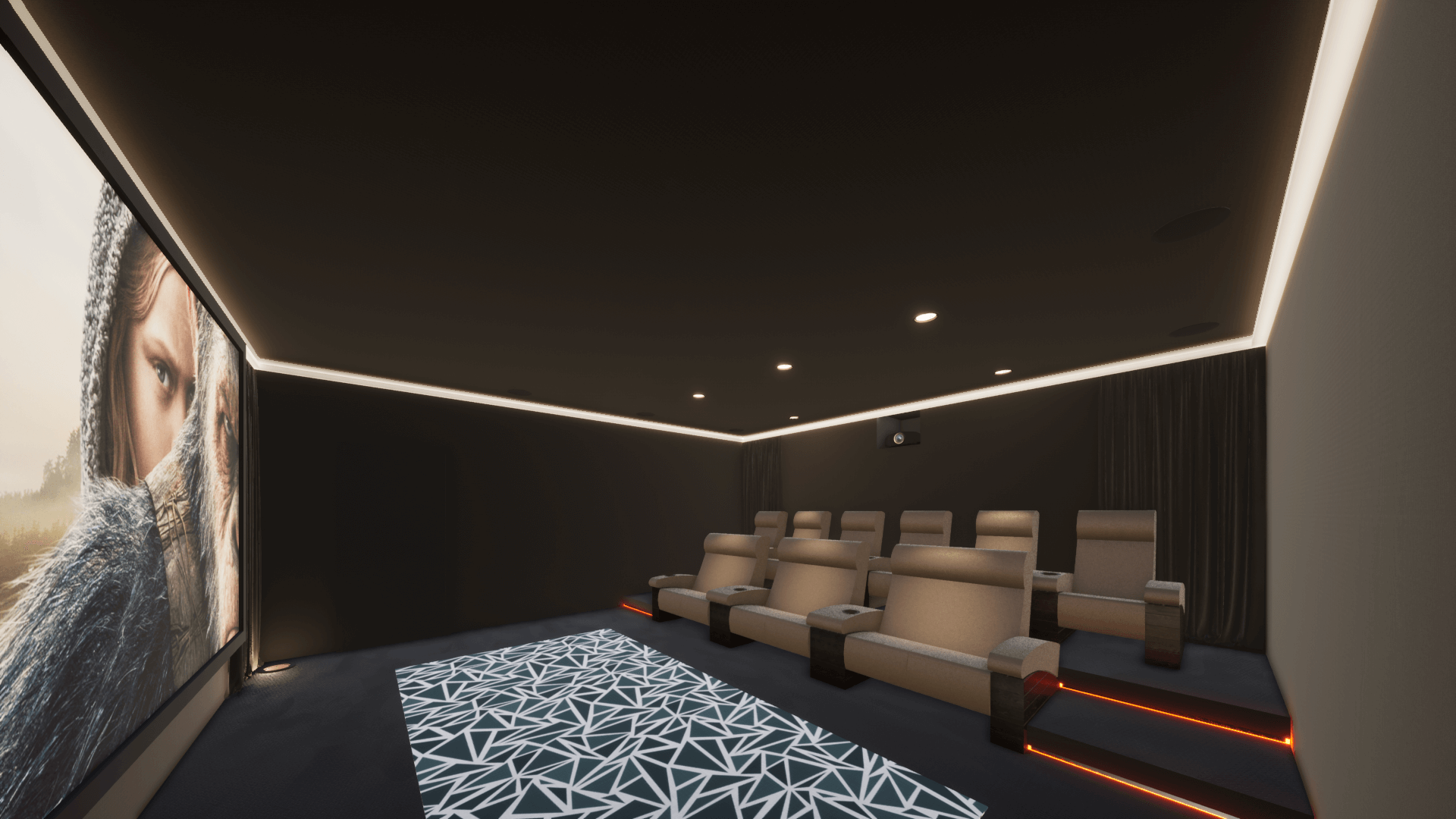 Home Cinema Room in Al Barari, Dubai