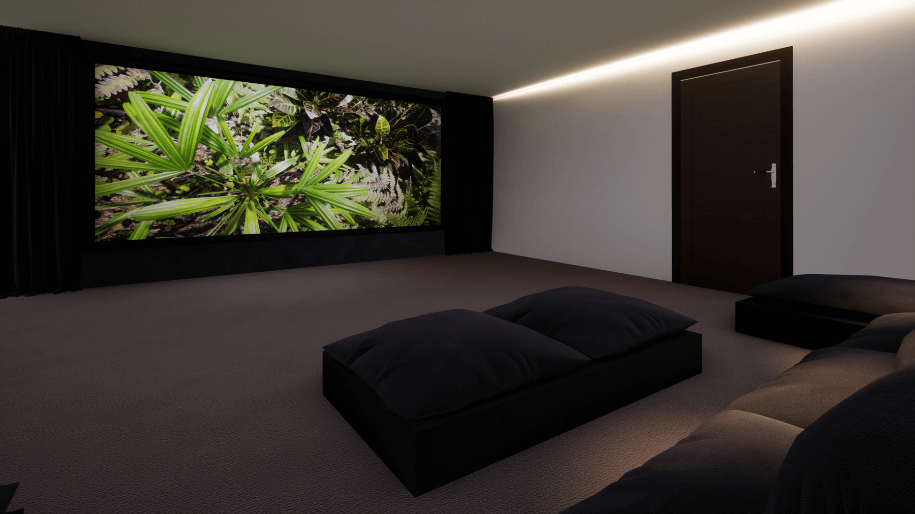 Garage Home Cinema Conversion - Hale, Cheshire