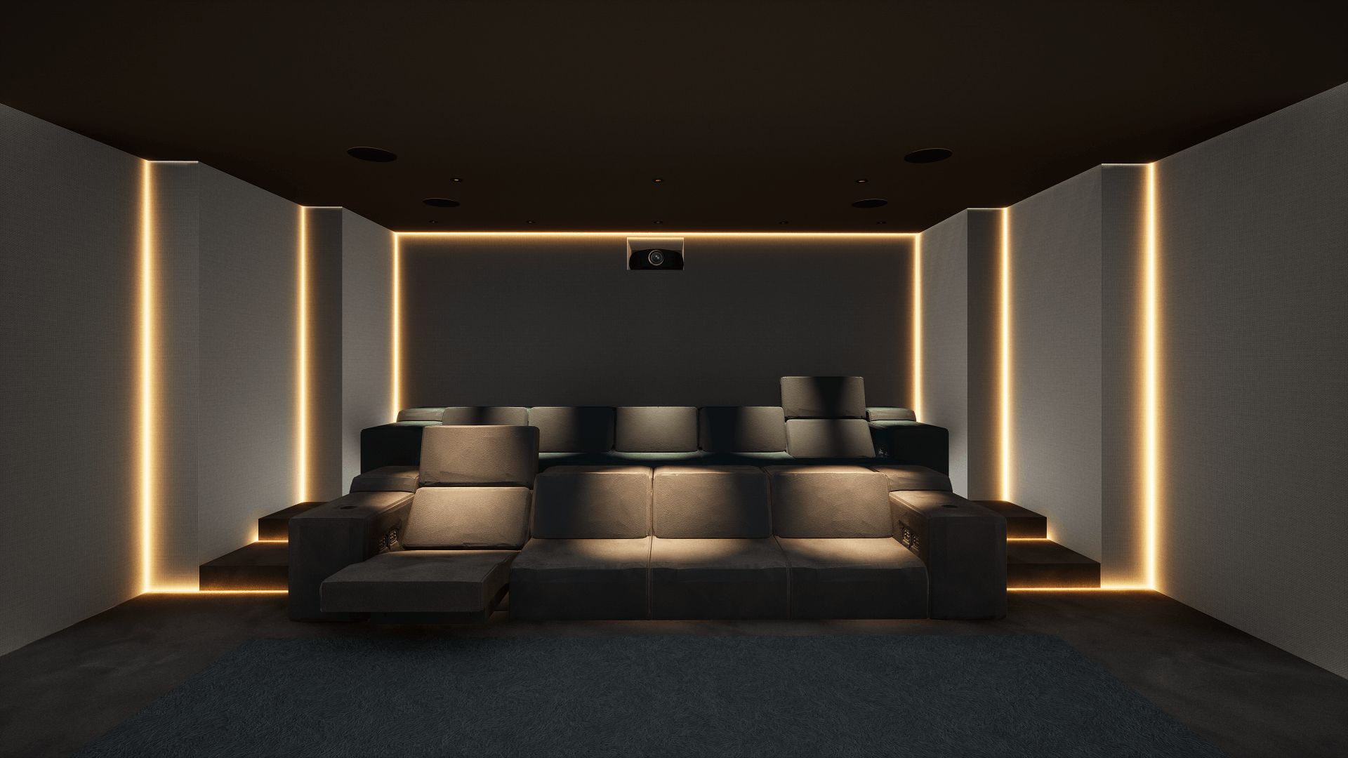 Home Cinema Room in District One, Dubai