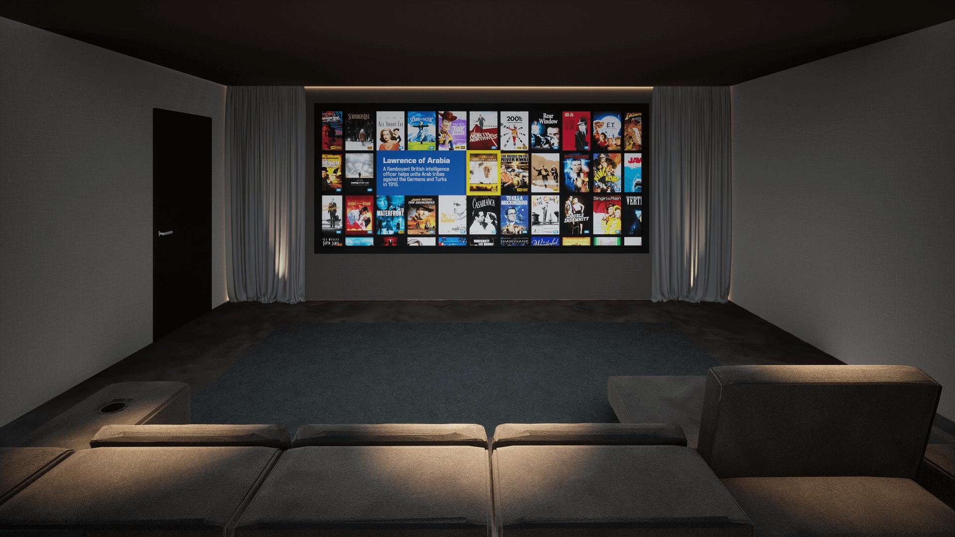 Home Cinema Room - District One, Dubai