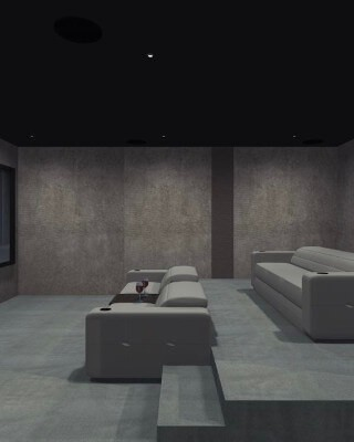 Home Cinema Room in Nigeria