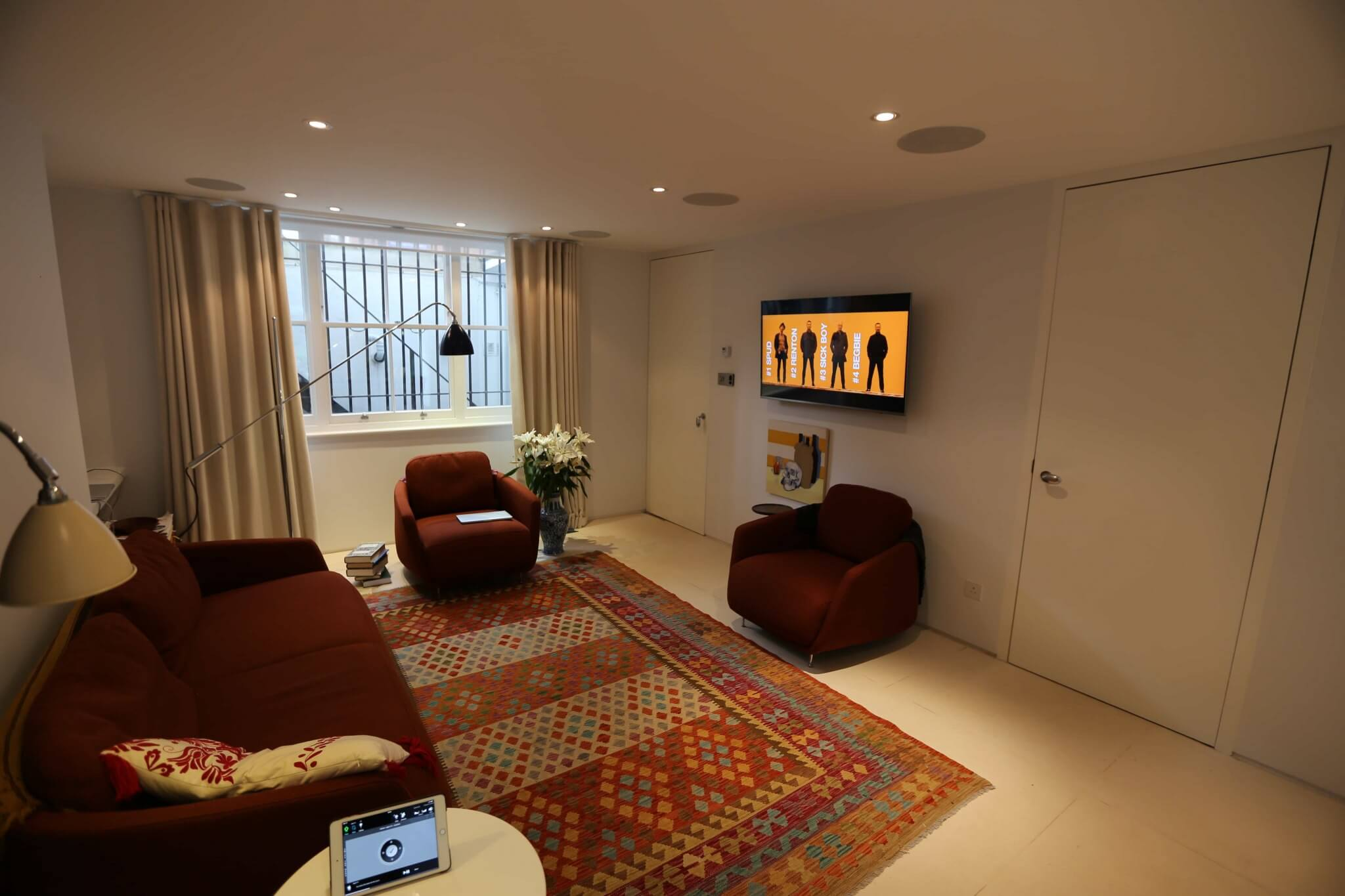 Wall Mounted TV with Crestron Video Distribution