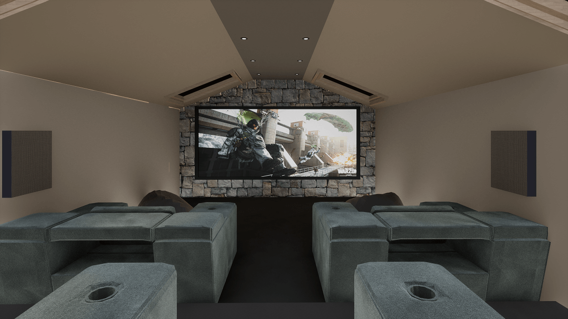 Lake District Home Cinema Showing Call of Duty