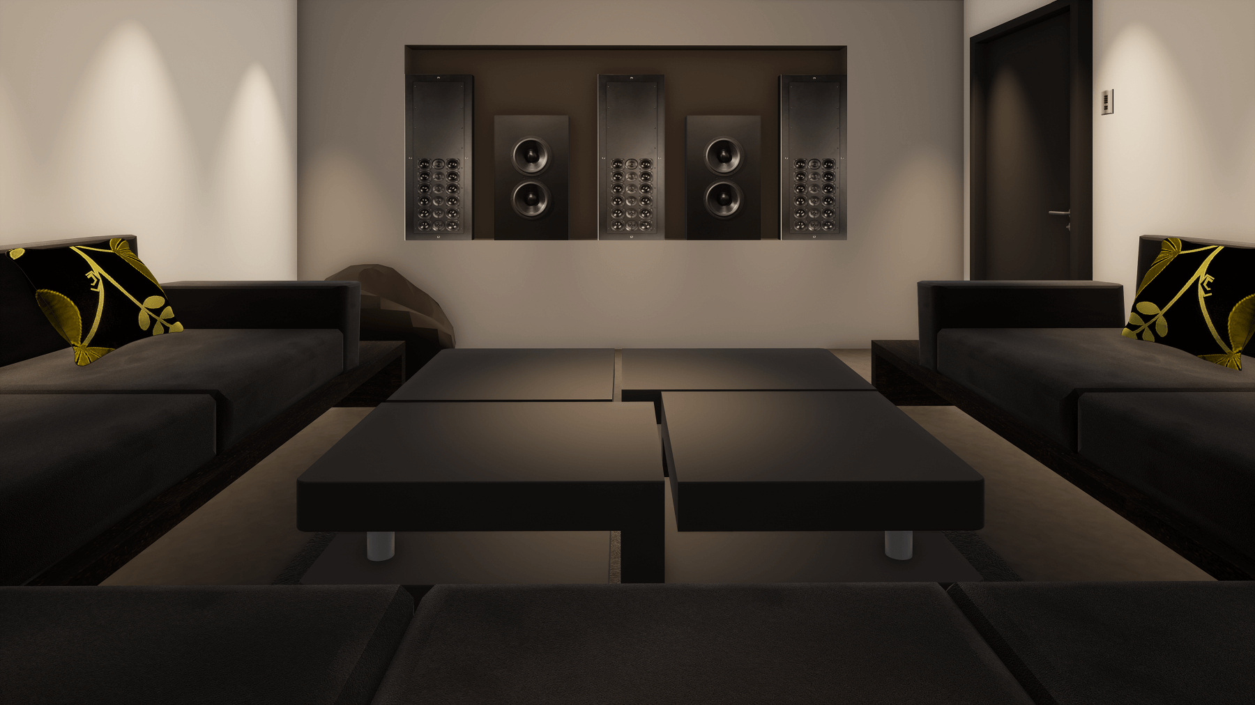 Small Home Cinema Room showing Speakers