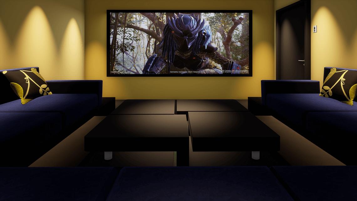 Spare Bedroom Cinema Showing Predator