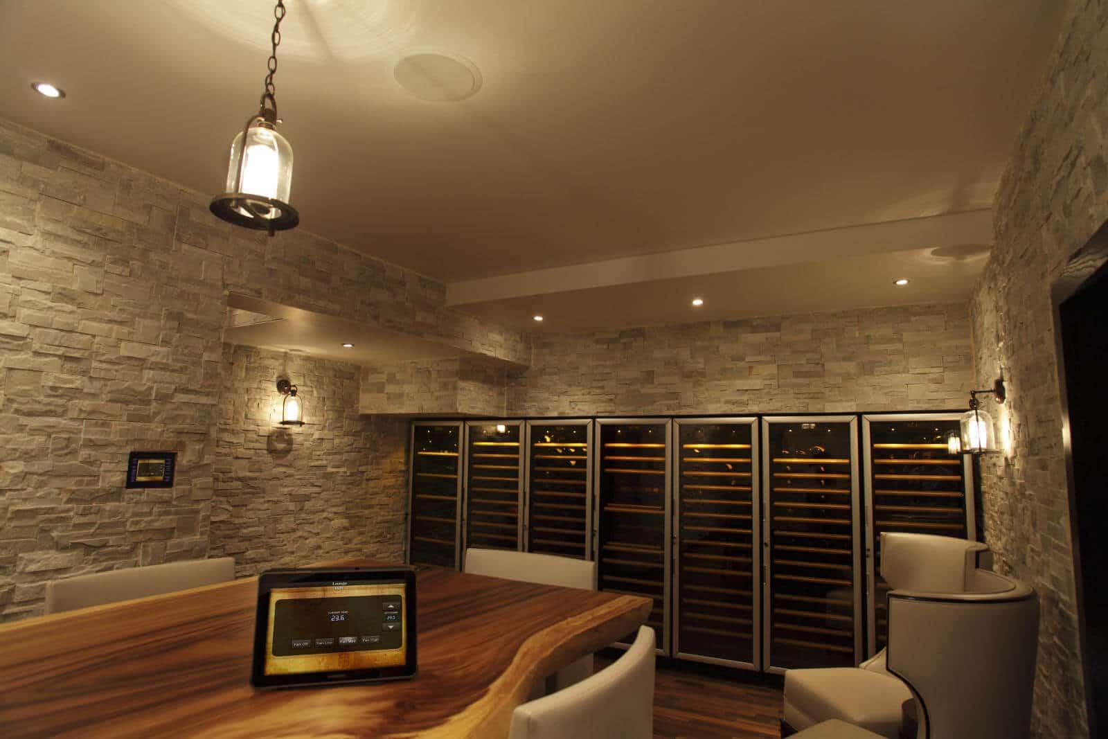 Crestron Controlled Wine Cellar
