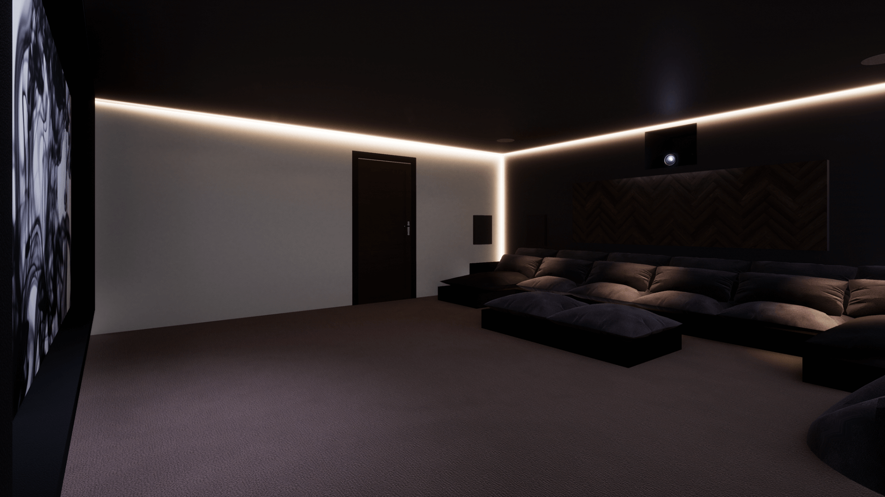 Double Garage Home Cinema Conversion