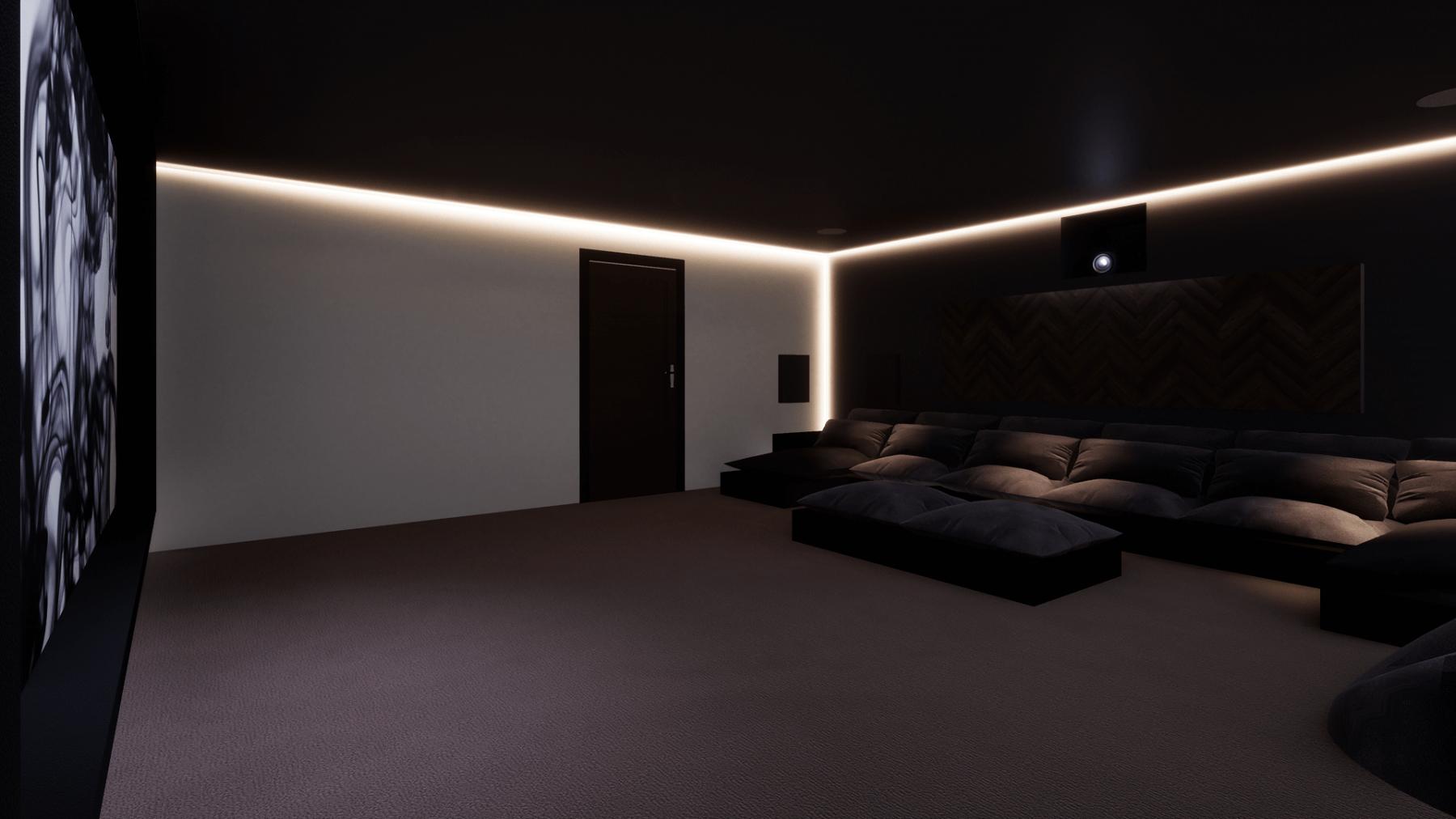 LED Cove Lighting in Cinema