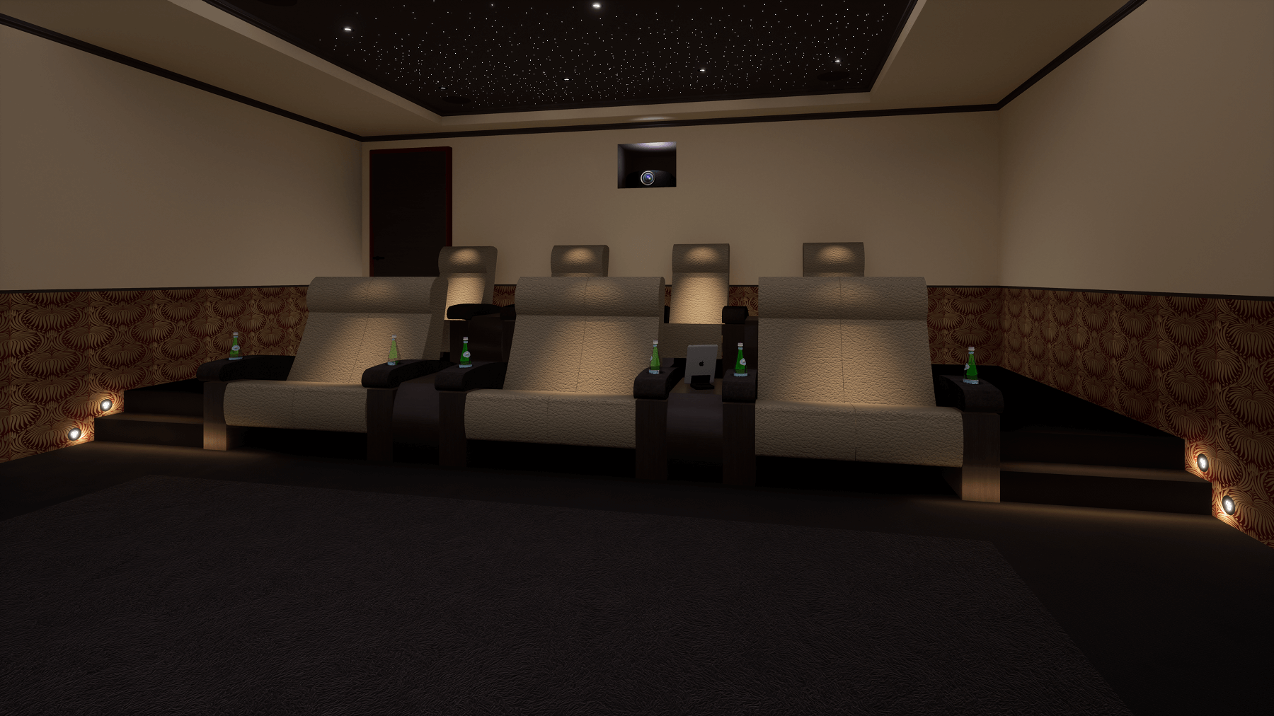 Hampstead Home Cinema Room Seating