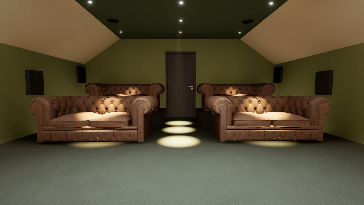 Home Cinema Hertfordshire Rear View