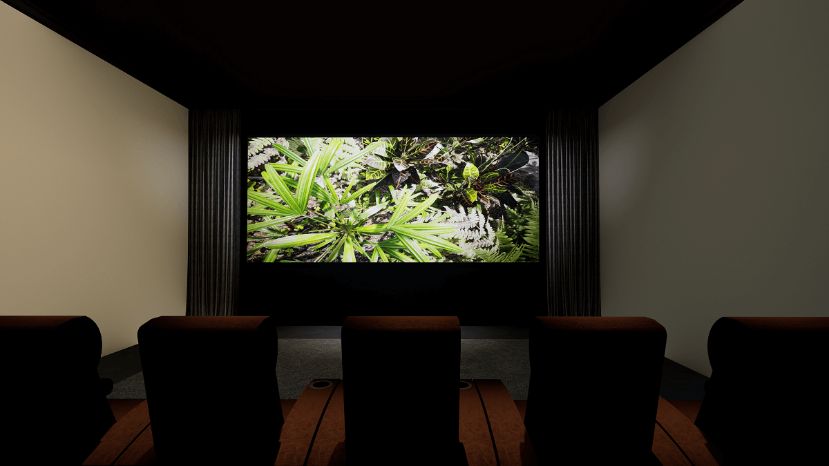 Krix Home Cinema - Lights Dimmed for Viewing