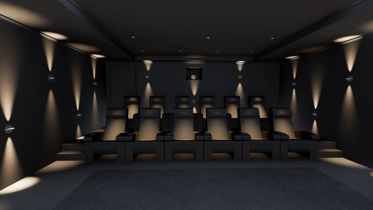 Cheshire Cinema Room Seating View