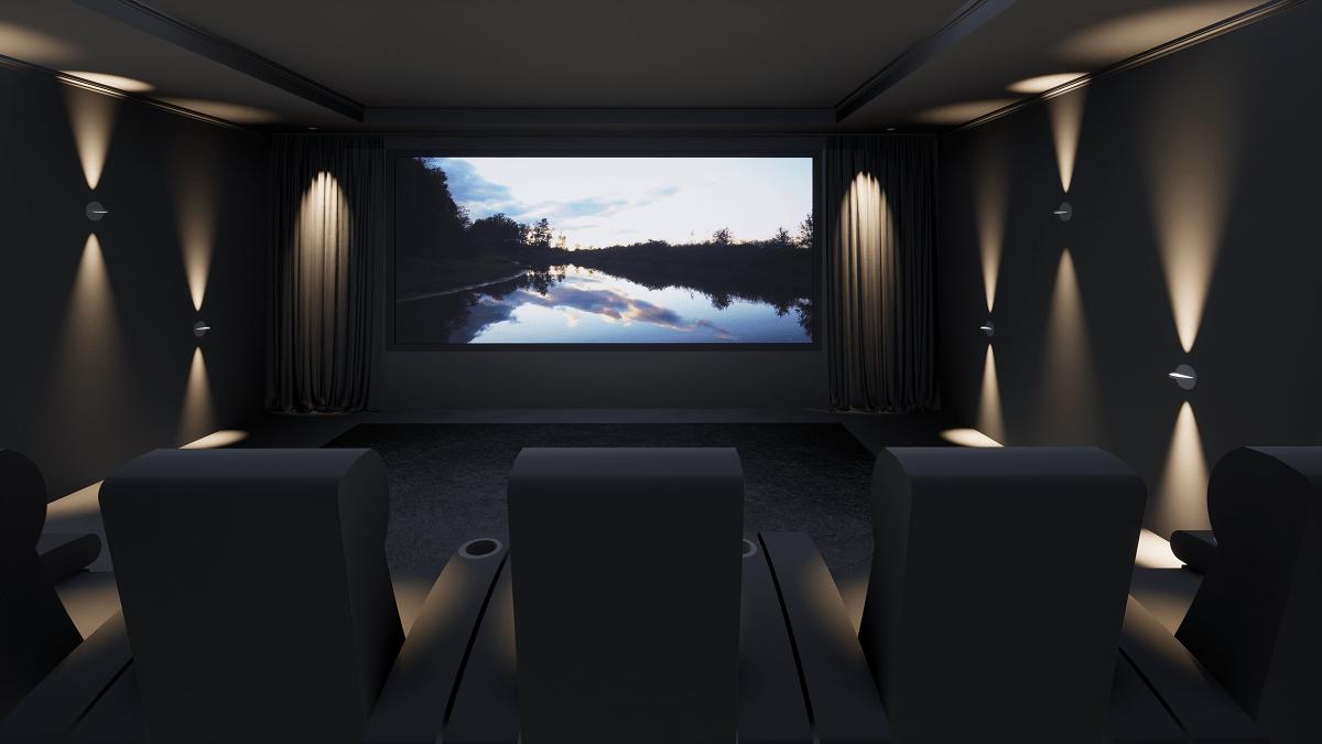 Modern Home Cinema Room, Cheshire