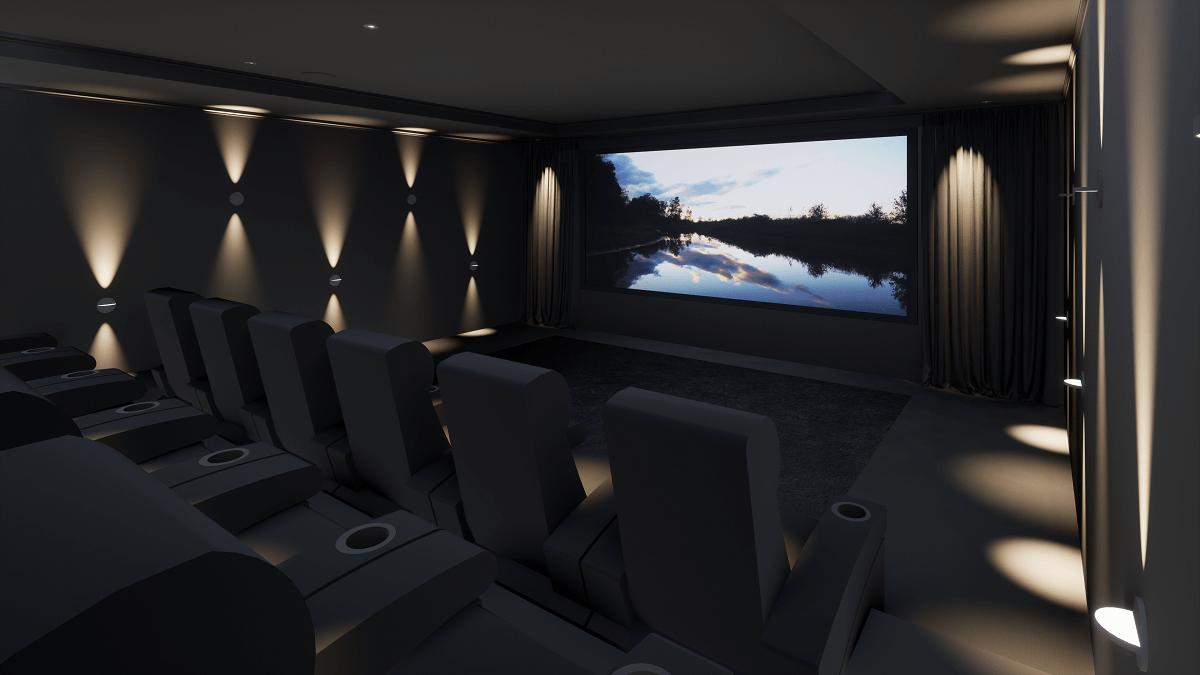 Modern Home Cinema Room in Cheshire