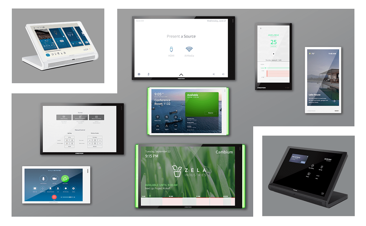 Crestron Touchpanels and Control Surfaces