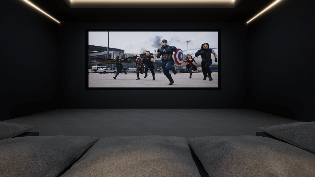 Luxury Home Cinema, View from the Front Row