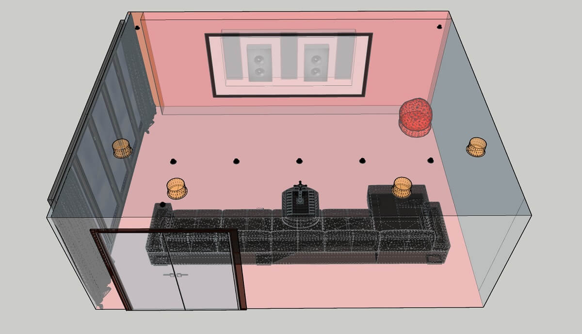 Home Cinema layout drawings