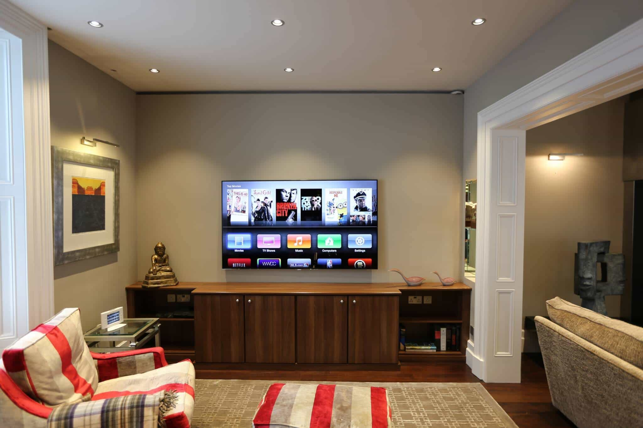 Belgravia Living Room Cinema Installation