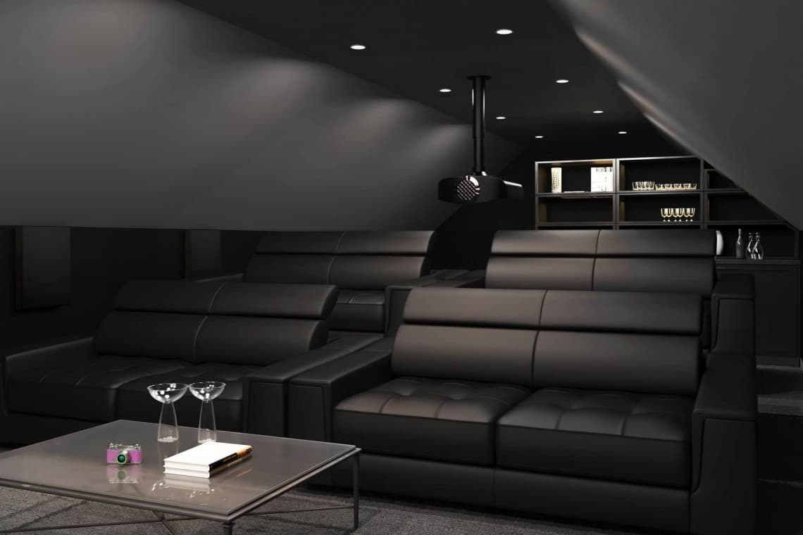 Rear View with Projector 1140x760 - The Custom Controls Home Blog - Informal Articles & Inspiration