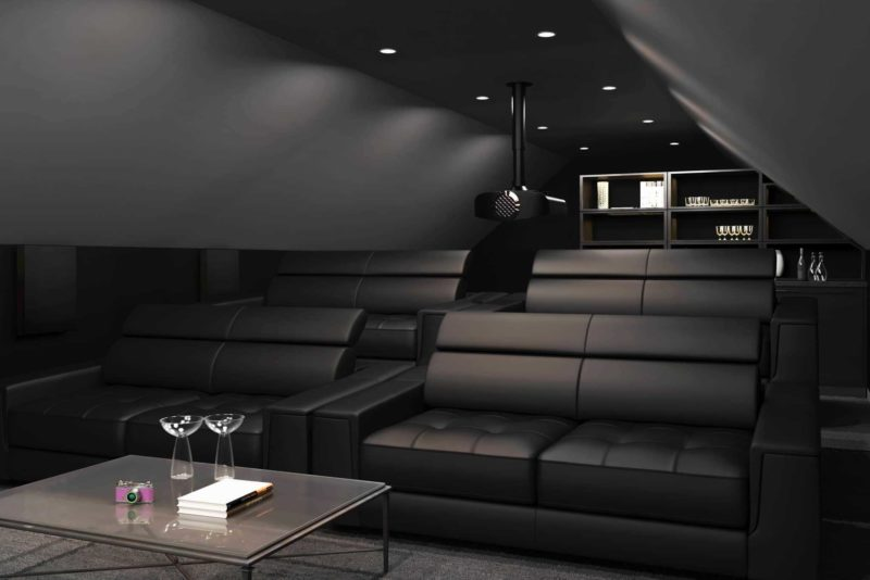 Rear View with Projector 800x534 - Home Cinema Seating - Distances?