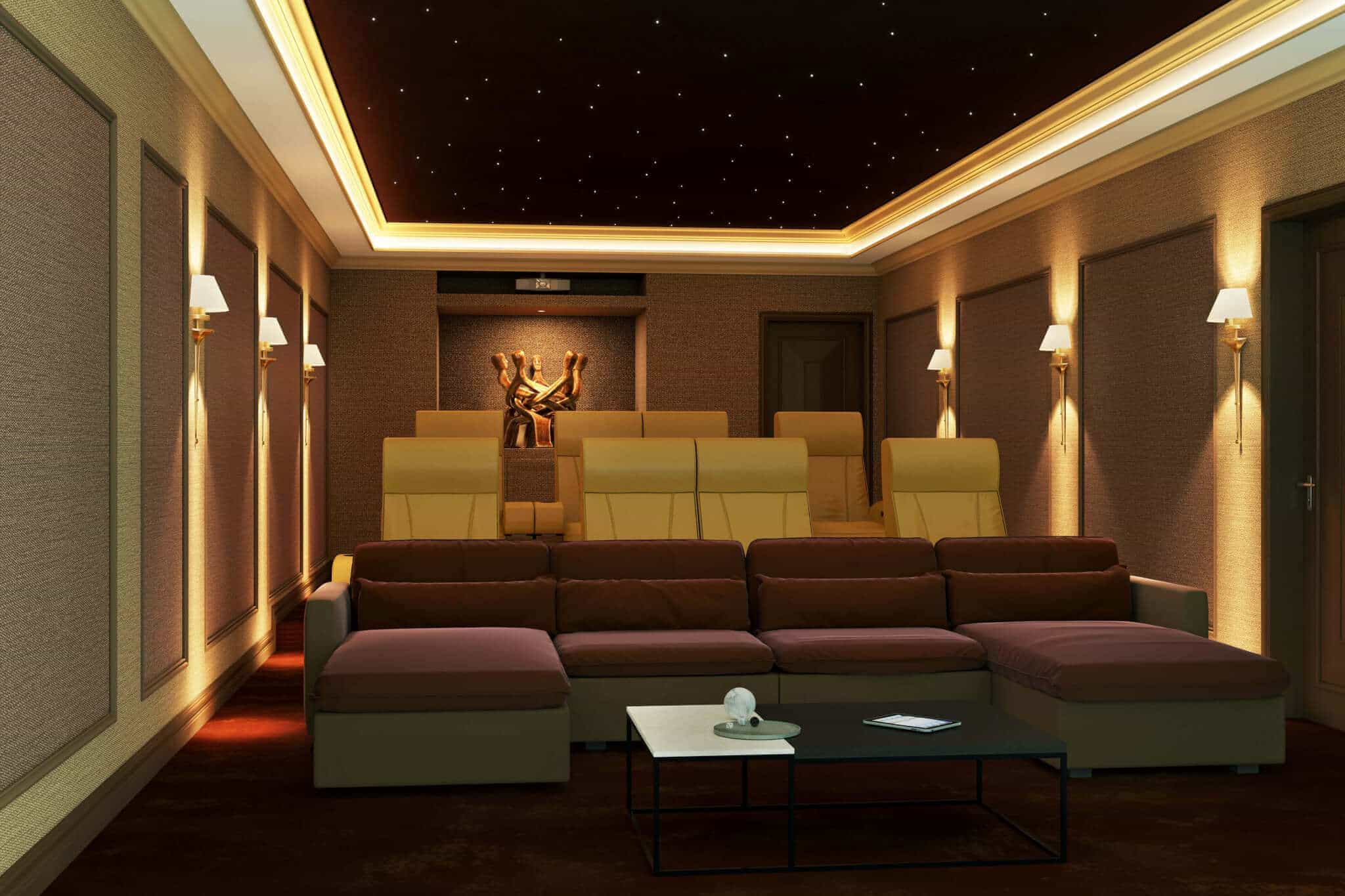 Fabric Wrapped Home Cinema Room