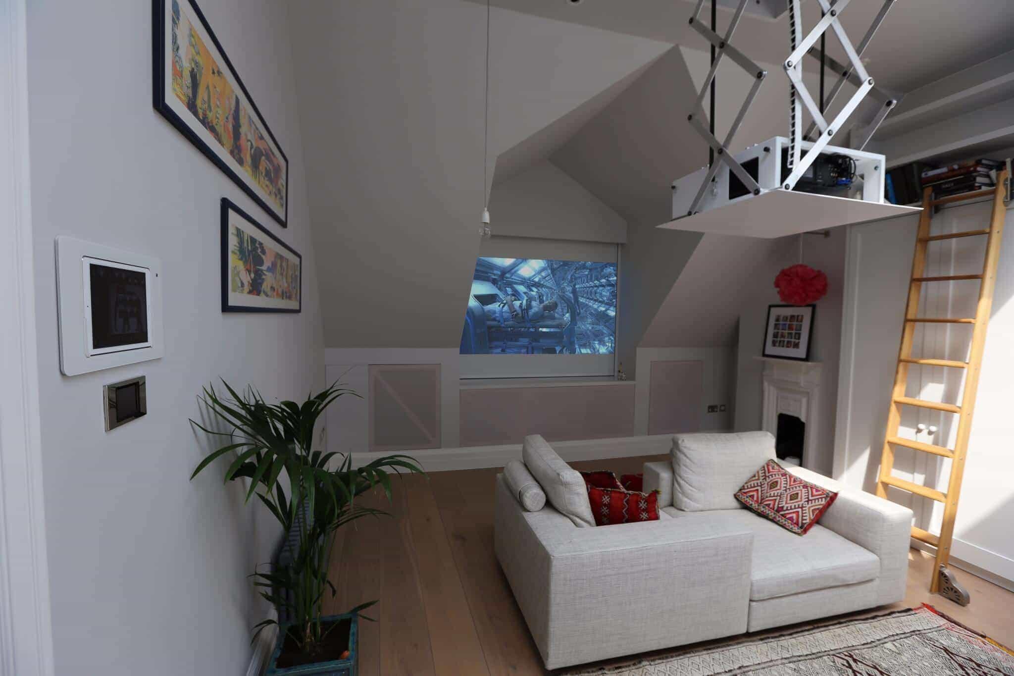 Attic Home Cinema Installation London