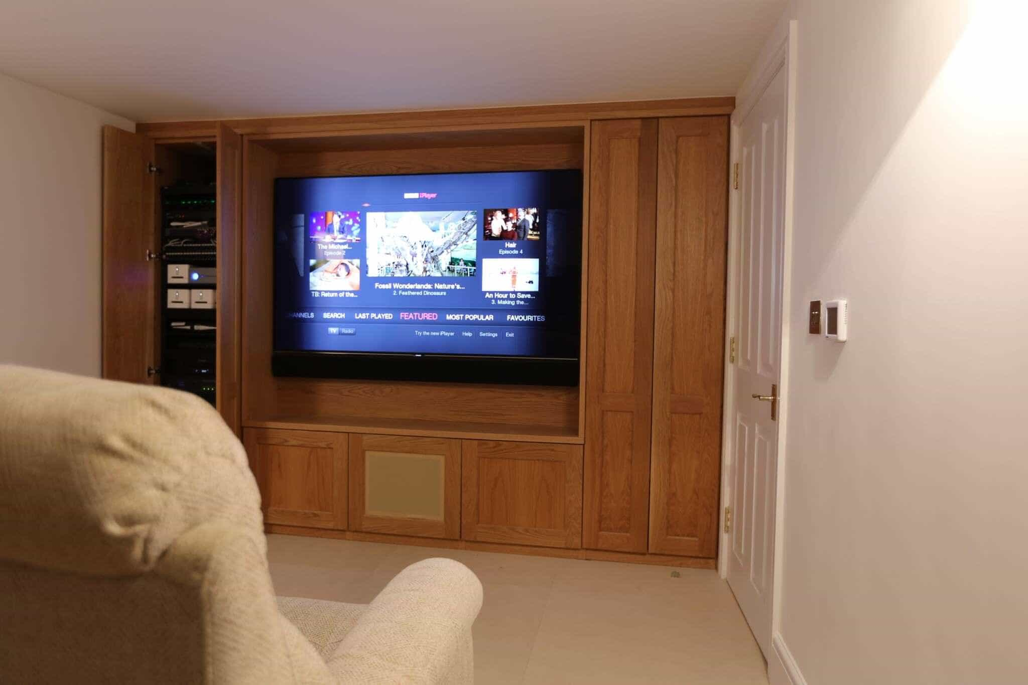 Pimlico Basement Home Cinema Room - Showing AV Rack